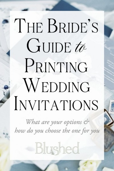 Printing Methods For Wedding Invitations