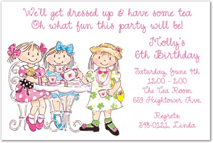 Girls Tea Party Invitation