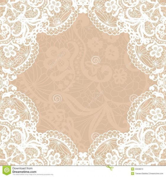 Blank Lace Wedding Invitation Templates