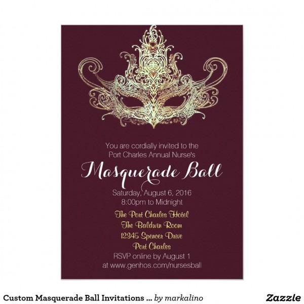 Custom Masquerade Ball Invitations