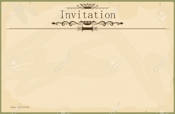 Vintage Blank Invitation Royalty Free Cliparts, Vectors, And Stock