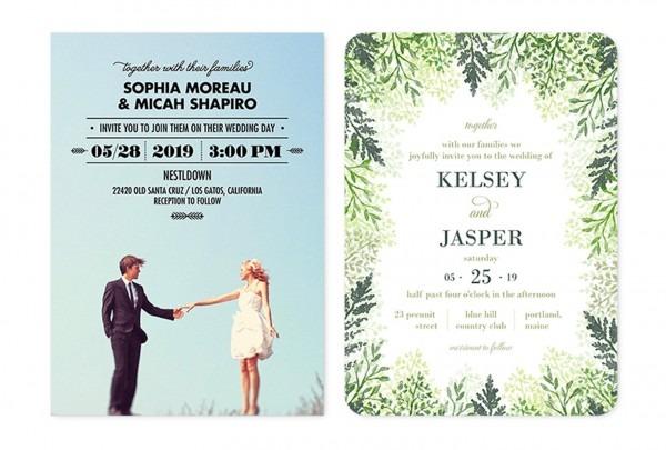 Unique Wedding Invitations Samples