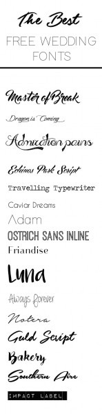 The Best Free Fonts For Wedding Invitations, Place Cards, Save The
