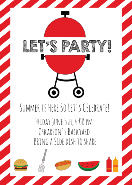 Download Free Png Summer Bbq Invitations And Id