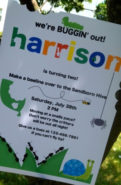 Buggin Out Birthday Invitations, Bug Party, Personalized And