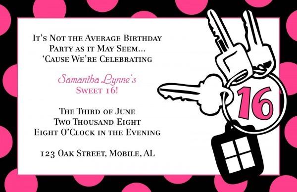 Teen Birthday Invitation Templates