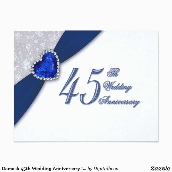 45th Wedding Anniversary Gifts Lovely Damask 45th Wedding