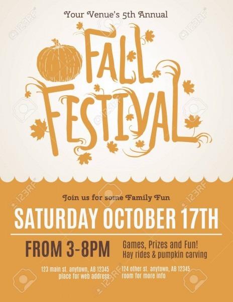 Fun Fall Festival Invitation Flyer Royalty Free Cliparts, Vectors