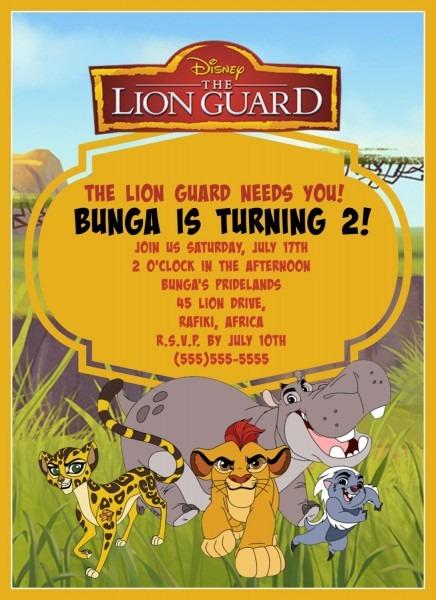 Lion Guard Birthday Invitation