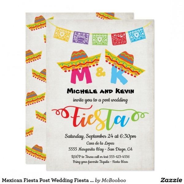 Mexican Fiesta Post Wedding Fiesta Invitation In 2019