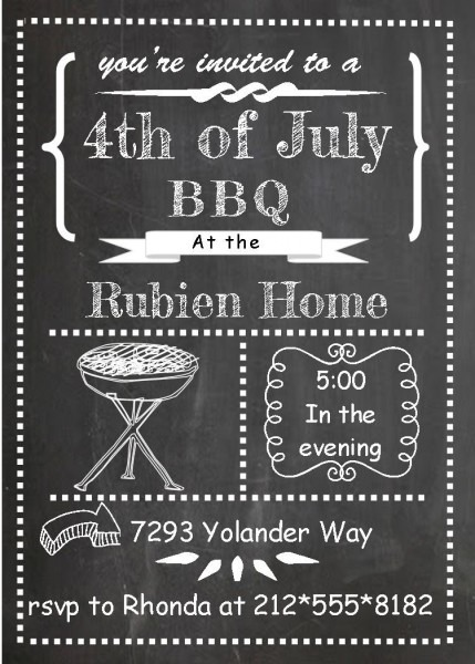 Bbq Birthday Invitations
