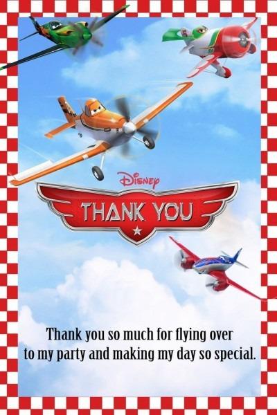 Disney Planes Dusty Crophopper Thank You Templates