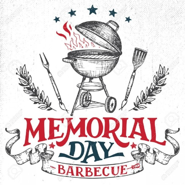 Memorial Day Barbecue Holiday Greeting Card  Hand