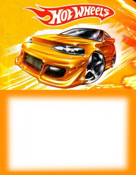 Printable Hot Wheels Party Invitation