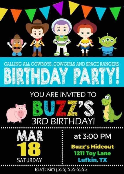 Toy Story Birthday Invitation By Fromkelliwithlove On Etsy