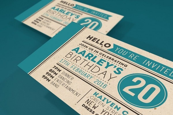 Colorfull Invitation Card Template Psd