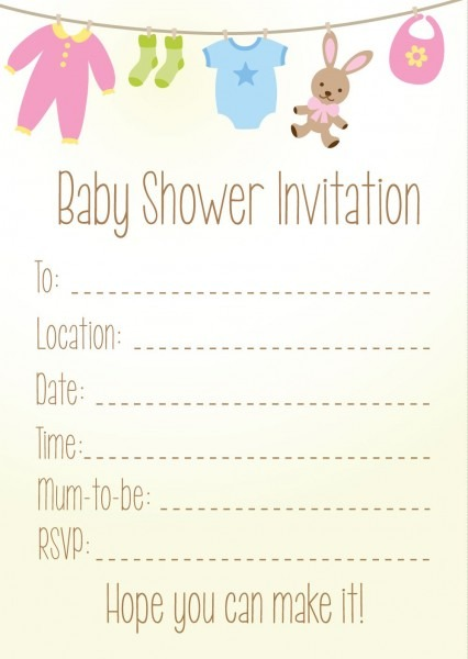 Pack Of 8 Baby Shower Invitations  Amazon Co Uk  Kitchen & Home
