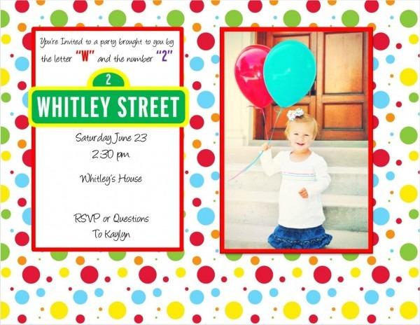 Sesame Street 2nd Birthday Invite Wording