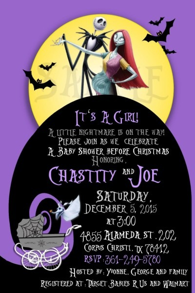Nightmare Before Christmas Baby Shower Invite By Invitesbyval