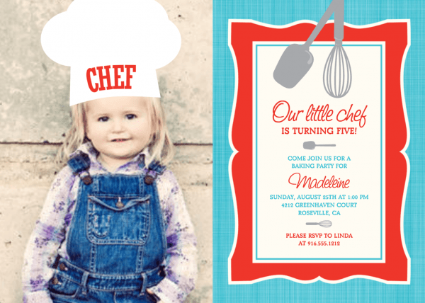 Our Little Chef Birthday