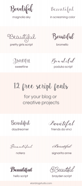 12 Beautiful Script Fonts