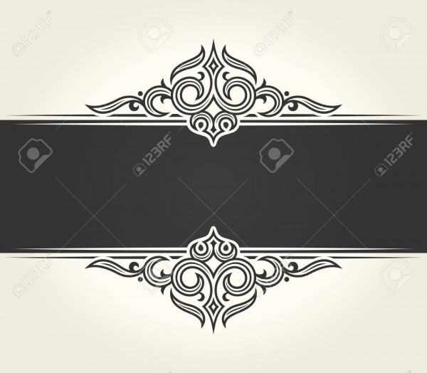Banner Islam Ethnic Design  White Invitation Vintage Label Frame