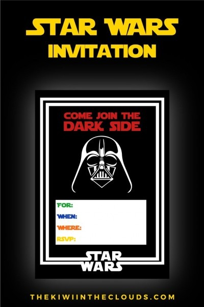 Free Star Wars Party Printables  A No