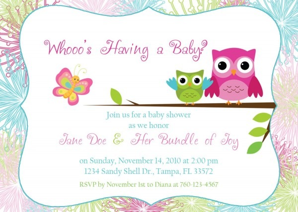 Owl Baby Shower Invitation By Designsbyoccasion On Etsy, $16 00