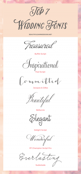 My Top 7 Fonts For Weddings