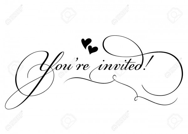 You Re Invited! Vector Handmade Calligraphy With Twirl And Two