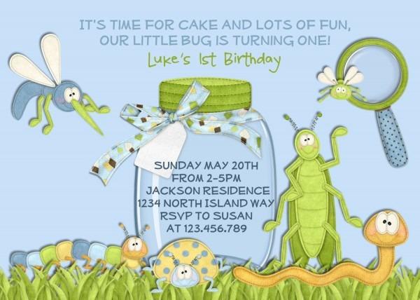 Bug Birthday Invitation