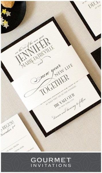 New Years Eve Formal Wedding Invitations
