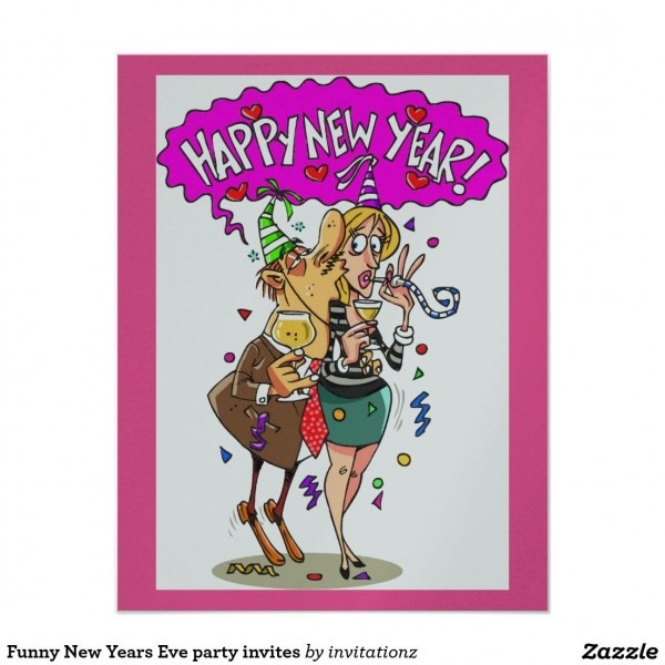 Funny New Year Party Invitation