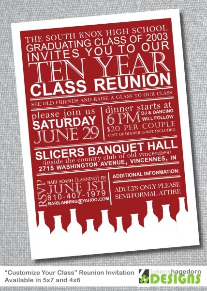 This Class Reunion Invite Idea Could Work For Several Kinds Of