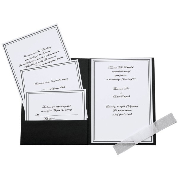 Wilton Elegance Invitation Kit 25 Pkg