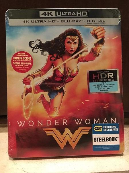 Amazon Com  Wonder Woman 2017 Limited Edition Steelbook [4k Ultra