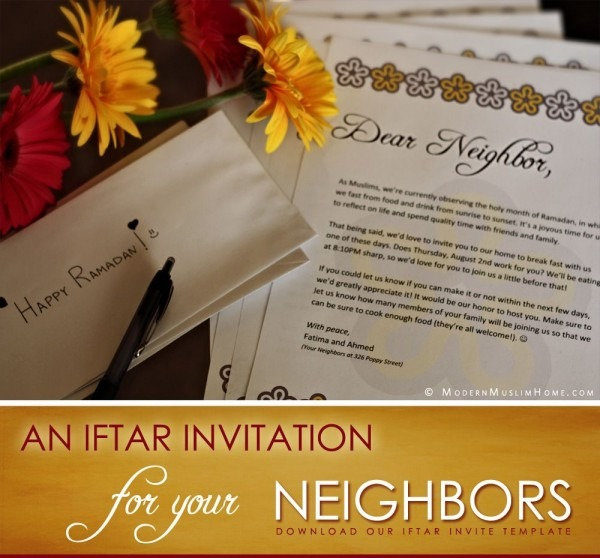 An Iftar Invitation For Your Neighbors