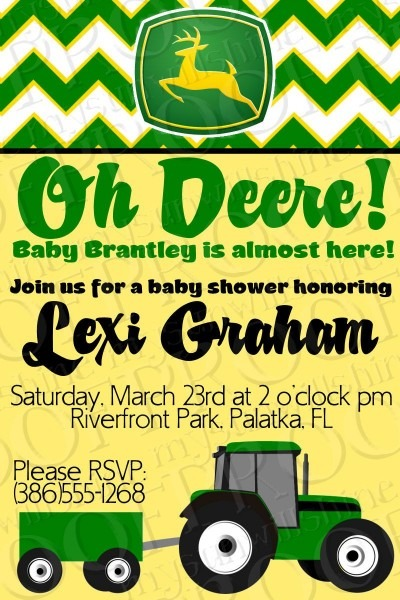 John Deere Baby Shower Invitation