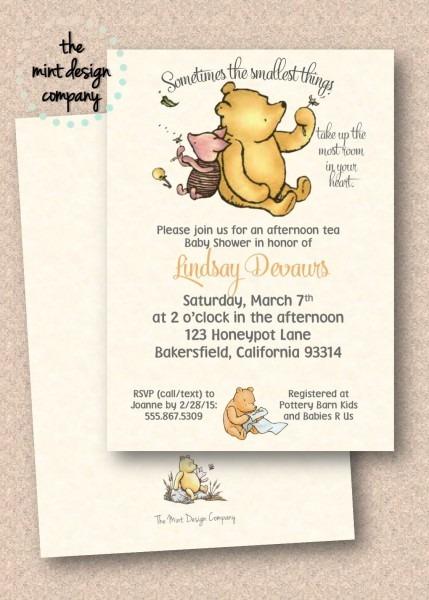 Classic Bear Baby Shower Invitation Digital Design