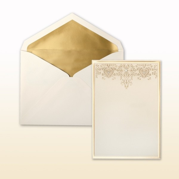 Matte Gold Stamped Filigree And Matte Gold Border Cabinet Of 50