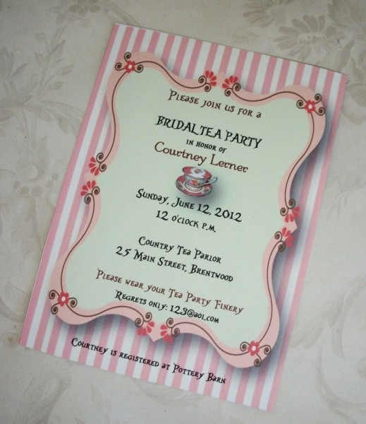 The Tea Party Bridal Shower Invitation Wording Creates Impact