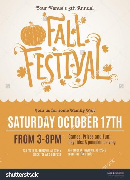 Fun Fall Festival Invitation Flyer Ilustración Vectorial En Stock