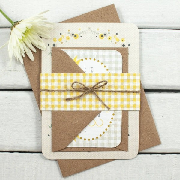 Floral Gingham Wedding Invitation Bundle In 2019