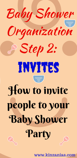 Baby Shower Organization Step 2  Invites  How To Invite People To