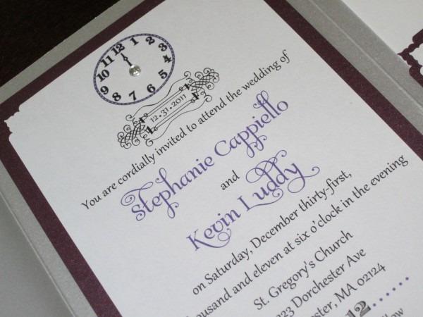 New Years Eve Wedding Invitation Sample  6 50$ Usd, Via