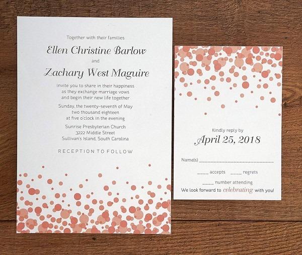 Amazon Com  Confetti Printable Wedding Invitations