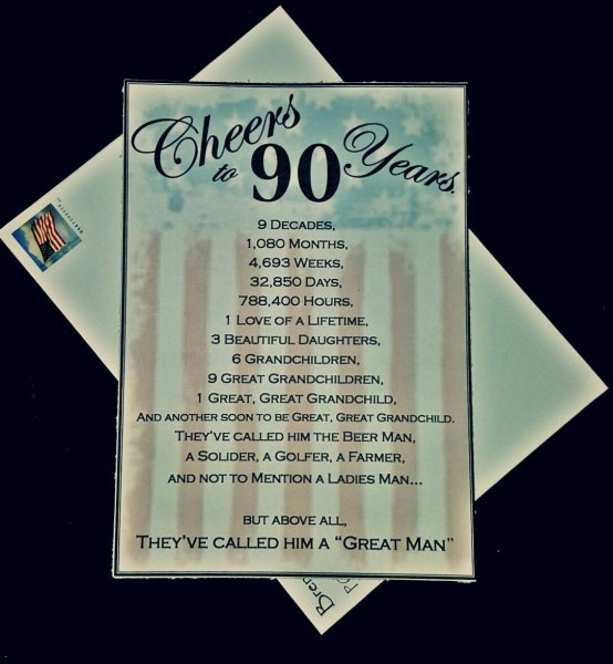 Patriotic Themed 90th Birthday Invitation Kreative Kinks