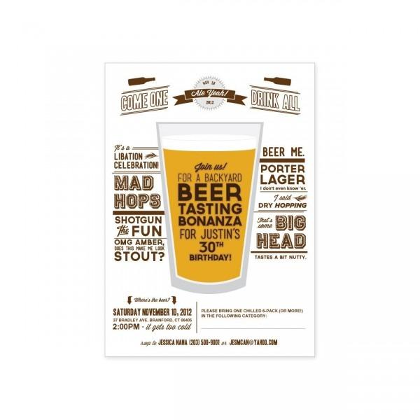 Il Xn Bsd Nice Beer Tasting Birthday Party Invitations