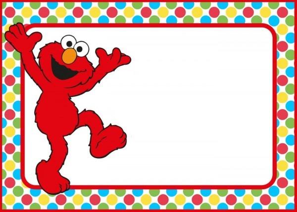 Free Elmo Invitations Template Polka Dot Ideal Elmo Birthday