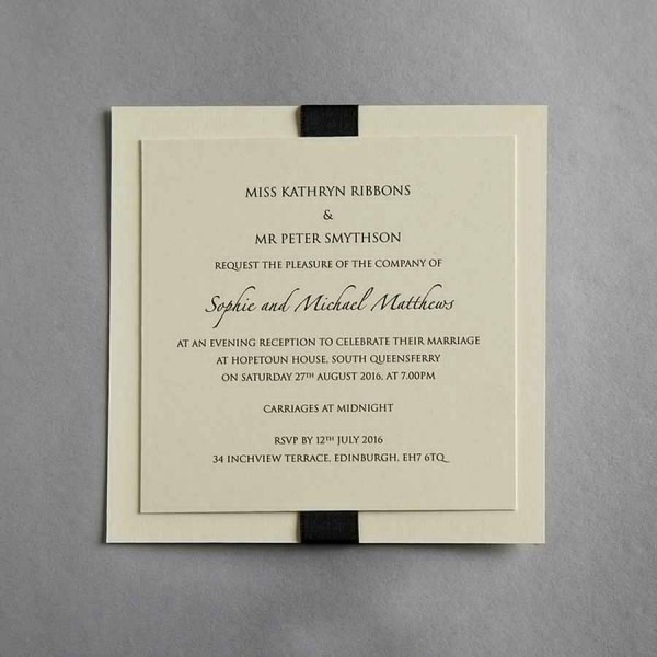 Adults Only Wedding Reception Invitation Wording